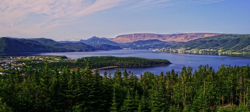 A view over Bonne Bay, in the middle of beautiful Gros Morne National Park.