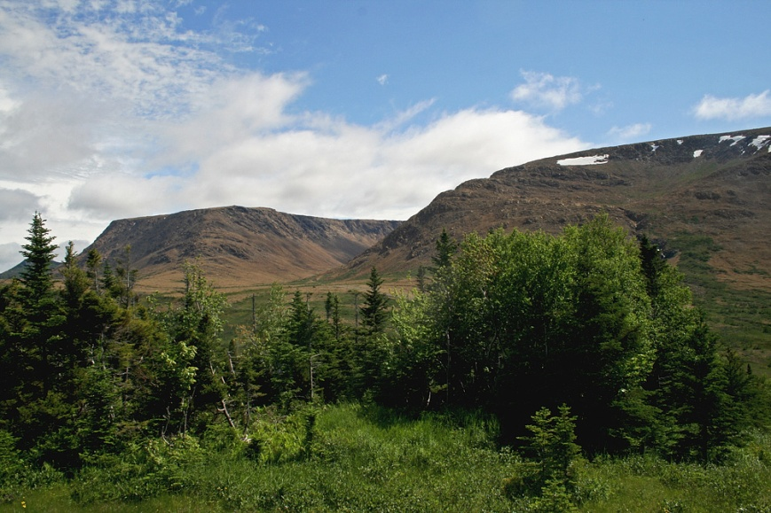 The amazing scenery and geology pf Gros Morne National Park, like the Tablelands pictured here, is known throughout the world. Much of the early evidence proving the theory of plate tectonics and continental drift came from here!