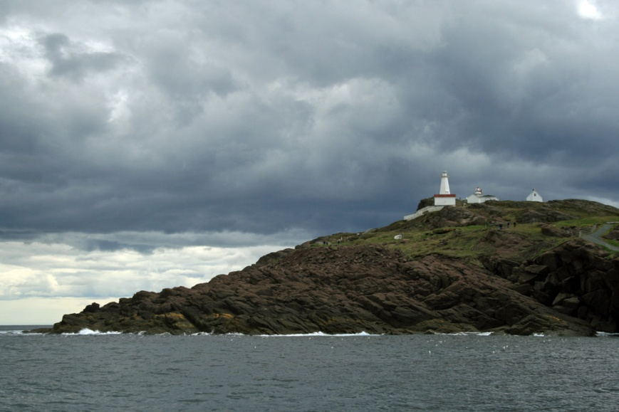 A boat tour out of St. John's harbour give a new perspective on Cape Spear, North America's easternmost point - this time with a rainstorm brewing in the background.