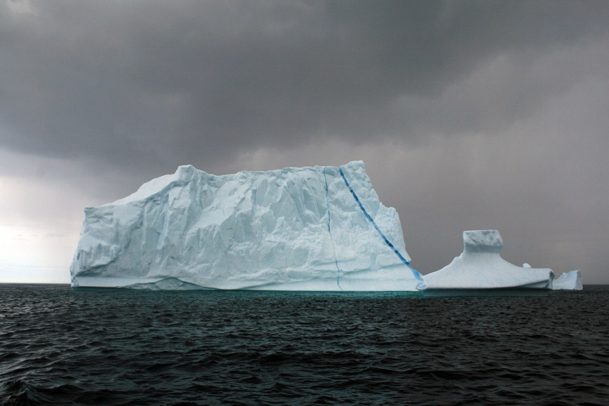 And, of course, more icebergs. There were some mammoths outside the narrows this month!