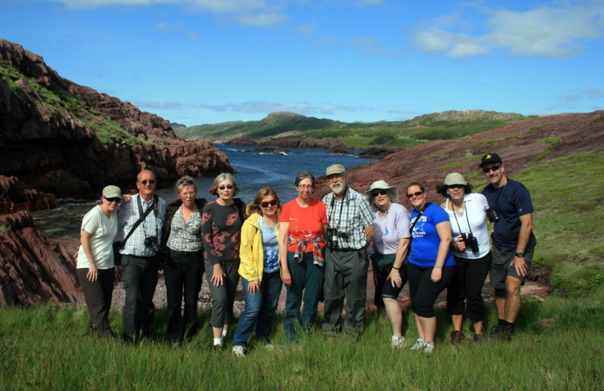 Here is our Wildland Tours group at Tickle Cove, Bonavista Bay. What a great bunch!!