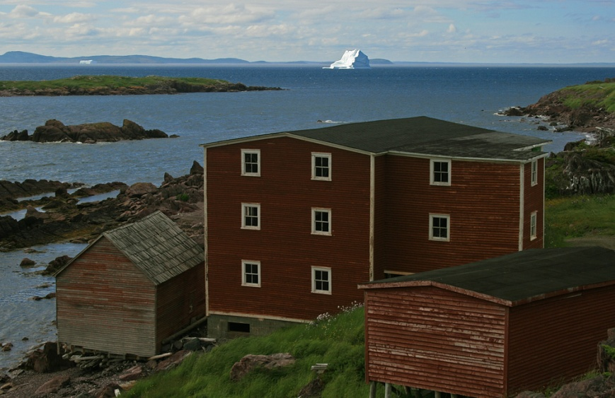 Another brilliant iceberg was grounded just off the scenic little outport of Red Cliff, Bonavista Bay.