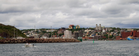 A view of St. John's harbour as we entered the narrows.