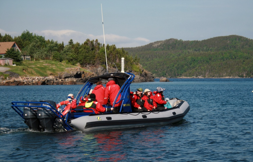 Our group also enjoyed a zodiac tour of Bonavista Bay with Sea of Whale Adventures ...