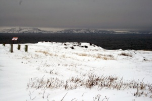 A wintery morning at Cape Spear.