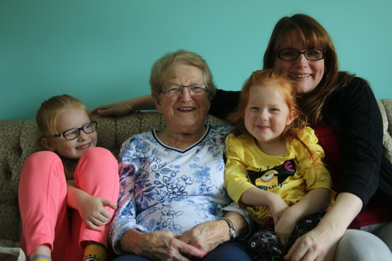 Nan Seymour (pictured here with Susan and our two girls, Emma & Leslie) loved her family and was very proud of her grandchildren. She was a beautiful person who lived a generous life. She also worked hard for most of it, without many of the freedoms and blessing that we enjoy. She always relished in the fact that her grandchildren were able to go off on adventures and explore the world, and she would have loved to hear about my most recent Hawaiian trip. But I also felt her presence more than once and am sure she was there with me in ways I'll never understand.