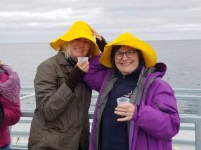 Some clients enjoying a boat tour in 2019